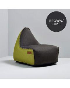 RETROit Canvas Combi - Dark Brown/Lime
