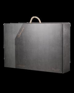 Stor grå gavekuffert