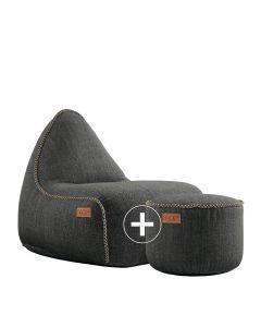 Cobana Lounge Chair & Pouf - Cobana Grey