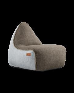 Cobana Lounge Chair Combi - Brown/White